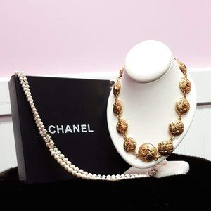 Quilted Chanel Necklace Necklace